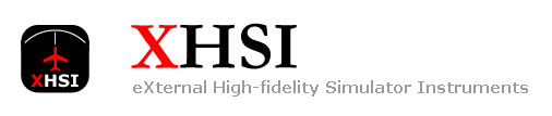 XHSI - eXternal High-fidelity Simulator Instruments